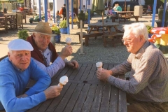 Grandads having an icecream